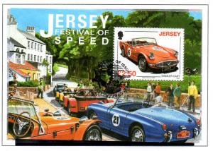 Jersey Sc 1334 2008  £ 2.5 Speed Festival stamp sheet used