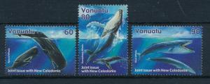 [23464] Vanuatu 2001 Marine Life Whales MNH