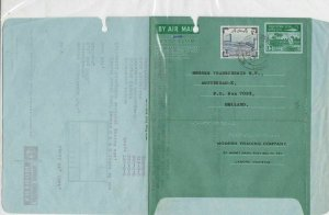 Pakistan 1966 Modern Trading Commercial Stamped Aerogramme to Holland Ref 26666