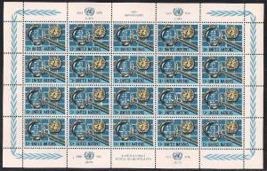 United Nations US 278-279 & Switzerland. 61-62 MNH Panes - UNPA