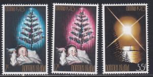 Norfolk Island # 153-155. Christmas, LH, 1/3 Cat.