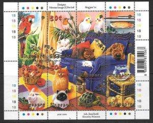 SINGAPORE SG1103a 2001 SINGPEX 01 FINE USED