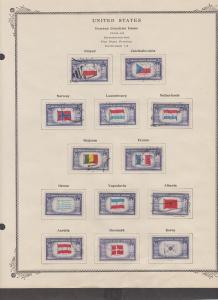 US 1943 Scott# 909 to 921 Overrun Countries Set used