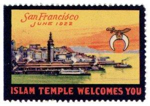 (I.B) US Cinderella : Islam Temple Welcomes You (San Francisco 1922)