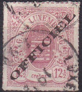 Luxembourg #O4 F-VF  Used  CV $600.00  (Z1204)