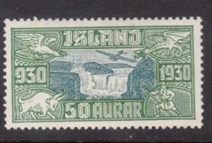 Iceland #C7 VF Mint