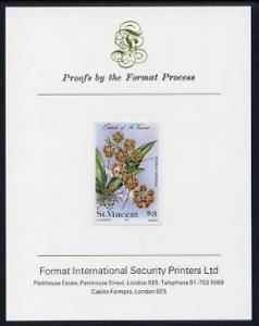 St Vincent 1985 Orchids $3 imperf proof mounted on Format...