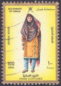 Oman # 323 used ~ 100b Woman in Regional Costume