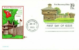 US FDC #ux169 Fort Recovery, Cover Craft (2092)