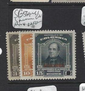 COLOMBIA  (PP2203B)   SC  539-541   SPECIMEN   MNH
