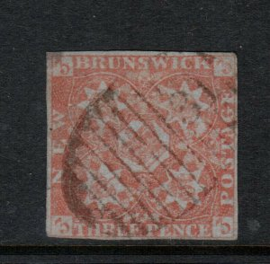 New Brunswick #1 Fine - Very Fine Used With Ideal #31 Numeral Cancel
