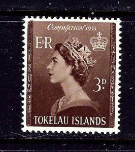 Tokelau Is 4 MNH 1953 QEII Coronation
