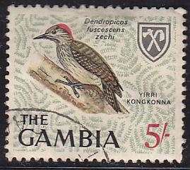 Gambia 225 Used 1966 Little Woodpecker