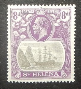 St. Helena 86. 1922 8p Violet and black Badge of the Colony
