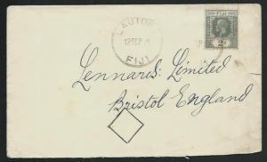 FIJI 1929 GV 2d on cover to UK ex LAUTOKA..................................65396