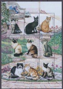 1996 Guyana 5671-5679KL Cats 8,50 €