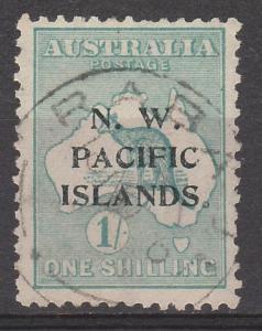 NWPI NEW GUINEA 1915 KANGAROO 1/- 2ND WMK USED