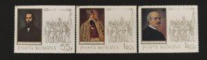Romania 1968 #2027-9, 1848 Revolution, MNH(see note).