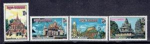 Cambodia, Scott #220-223; Monasteries, MH
