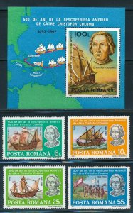 Romania - MNH Stamps Set Christopher Columbus Discovery of America (1992)