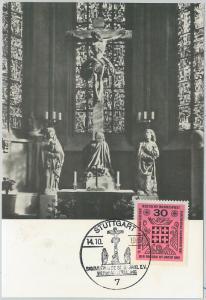 59099  - GERMANY   - POSTAL HISTORY: MAXIMUM CARD 1967  -  ART Religion