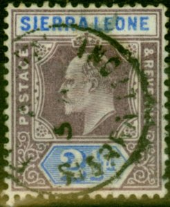 Sierra Leone 1903 2 1/2d Dull Purple & Ultramarine SG77 Fine Used