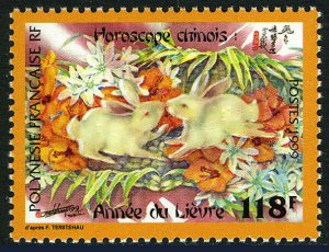French Polynesia 749, MNH. New Year. Lunar Year of the Rabbit, 1999
