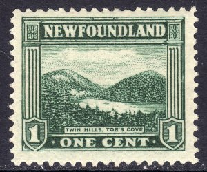 1923-24 Newfoundland Canada Twin Hills, Tor's Cave 1¢ MLH Sc# 131 CV $1.75