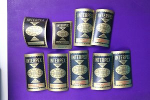 INTERPEX 1960 NYC NY Philatelic Souvenir Label ad set dealer society club FDC