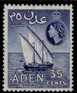 ADEN QEII SG57a, 35c violet-blue, M MINT. Cat £15.