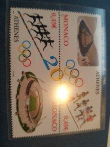 Monaco 2004 Olympic Athenes pair MNH