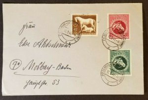 1944 Berlin Germany  WWII Commercial Commemorative Stamps Cover