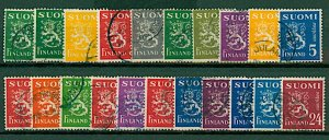 Finland 1945/8 Lion definitives with new design 3rd issue 2m to 24m ( VFU Stamps