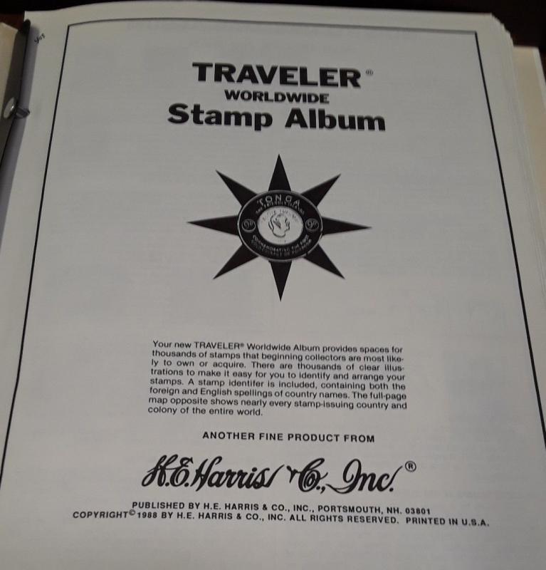 1960 Harris Ambassador & 1988 Travler stamp albums / HipStamp