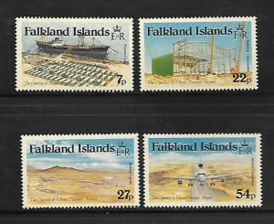 FALKLAND ISLANDS, 425-428, MNH, MOUNT PLEASANT AIRPORT OPENING
