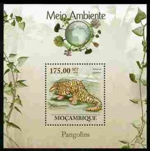 Mozambique 2010 The Environment - Pangolins perf m/sheet ...