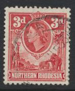 Northern Rhodesia  SG 65 SC# 65  Used - see details