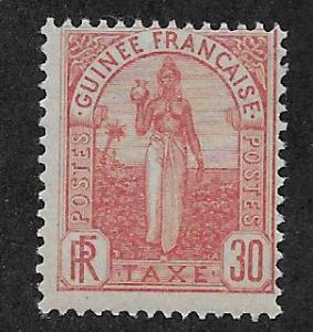 FRENCH GUINEA SC# J4  AVF/MLH    1905