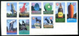 New Zealand Scott #1556a  Famous Town Icons Sheet of 10 1998