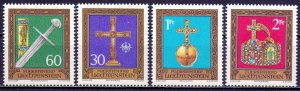 Liechtenstein. 1975. 625-28. attributes of power. MNH.