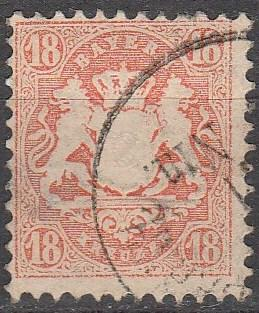 Bavaria #37 F-VF Used  CV $60.00  (A13066)