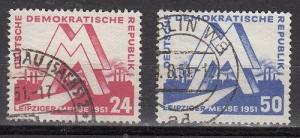 German Democratic Republic (DDR) - Scott 78-79 Used (Catalog Value $28.00)