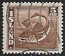 Iceland # 219 - Codfish - used....{GBl)
