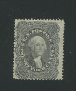 1860 United States Postage Stamp #37 Mint Lightly Hinged Original Gum Certified