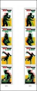 US 5480-5483 5483a Hip Hop forever vert gutter block (8 stamps) MNH 2020 7/15