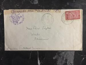 1939 Edea Cameroon Early War Censored Cover To Kribi