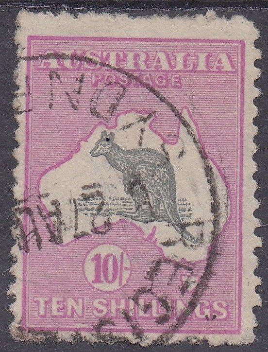 AUSTRALIA 1915 KANGAROO 10/- 3RD WMK USED
