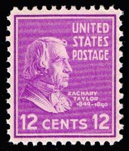 US STAMP #817 – 1938 12c Taylor, purple MNH   SUPERB