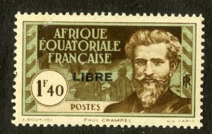 FRENCH EQUATORIAL AFRICA 110 MH SCV $4.00  BIN $1.75 PERSON