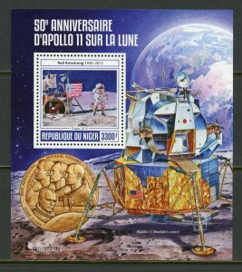 NIGER 2019 50th ANNIVERSARY OF APOLLO 11 ON THE MOON SOUVENIR SHEET MINT NH